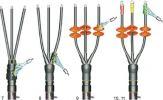 Концевые муфты 6ПКВТпЛ и 6ПКНТпЛ для кабелей с пластмассовой изоляцией на напряжение до 6 кВ