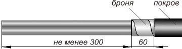 Последовательность монтажа концевой муфты для кабелей с пластмассовой изоляцией и с броней
